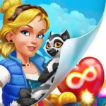 Park Town Match 3 Game with a story MOD APK Unlimited Money 1.32.3602