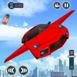 Flying Car Games 2020- Drive Robot Shooting Cars MOD APK Unlimited Money 1.0