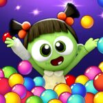 SPOOKIZ PANG Bubble Shooting MOD APK Unlimited Money Varies with device