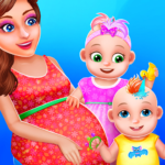 Pregnant Mommy And Twin Baby Care MOD APK Unlimited Money 0.8